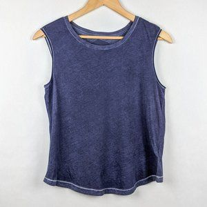 WHITE Company NWT Purple Burnout Muscle Tee Tank S